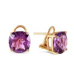 ALARRI 7.2 Carat 14K Solid Gold Provocative Amethyst Earrings