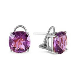 ALARRI 7.2 CTW 14K Solid White Gold Amethyst Standard Amethyst Earrings