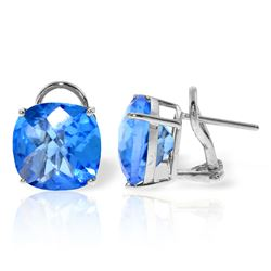 ALARRI 7.2 Carat 14K Solid White Gold Kaleidoscope Blue Topaz Earrings