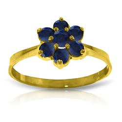 ALARRI 0.66 CTW 14K Solid Gold Ring Natural Sapphire