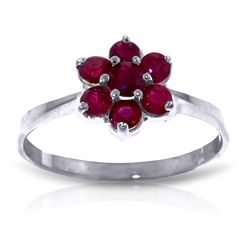 ALARRI 0.66 Carat 14K Solid White Gold Rekindle Ruby Ring