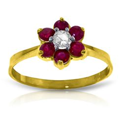 ALARRI 0.5 Carat 14K Solid Gold Offering Reassurance Ruby Diamond Ring
