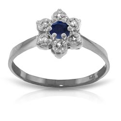 ALARRI 0.19 Carat 14K Solid White Gold Awaken To It Sapphire Diamond Ring