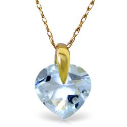 ALARRI 1.15 CTW 14K Solid Gold Break My Heart Aquamarine Necklace