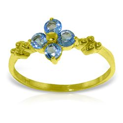 ALARRI 0.58 CTW 14K Solid Gold Audible Blue Topaz Ring