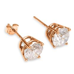 ALARRI 1 CTW 14K Solid Rose Gold Stud Earrings 1.0 Carat Natural Diamond