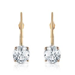 ALARRI 1 CTW 14K Solid Gold Leverback Earrings 1.0 Carat Diamond