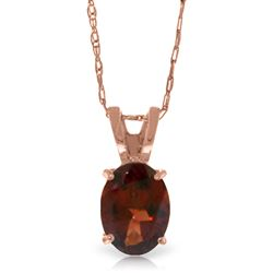 ALARRI 0.85 CTW 14K Solid Rose Gold Solitaire Garnet Necklace