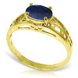 ALARRI 1.15 Carat 14K Solid Gold Filigree Ring Natural Sapphire