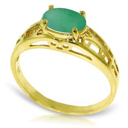ALARRI 1.15 Carat 14K Solid Gold Filigree Ring Natural Emerald