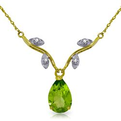 ALARRI 1.52 Carat 14K Solid Gold Never Such Love Peridot Necklace
