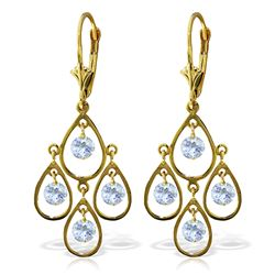 ALARRI 2.4 Carat 14K Solid Gold Pleasure Aquamarine Earrings