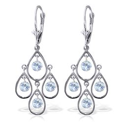 ALARRI 2.4 Carat 14K Solid White Gold Vanilla Dreams Aquamarine Earrings