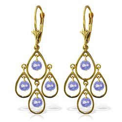 ALARRI 2.4 Carat 14K Solid Gold Chandelier Earrings Tanzanite