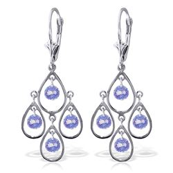 ALARRI 2.4 Carat 14K Solid White Gold Chandelier Earrings Tanzanite