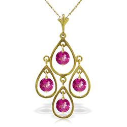 ALARRI 1.2 Carat 14K Solid Gold Pink Reflections Pink Topaz Necklace