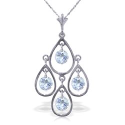 ALARRI 1.2 Carat 14K Solid White Gold Proven Innocent Aquamarine Necklace