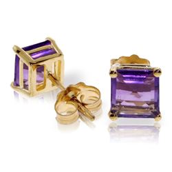 ALARRI 1.75 Carat 14K Solid Gold Accomplished Amethyst Earrings