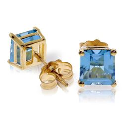 ALARRI 1.75 Carat 14K Solid Gold Deceive Naturale Blue Topaz Earrings