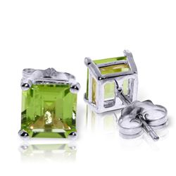 ALARRI 1.75 CTW 14K Solid White Gold Seconds Of Happiness Peridot Earrings