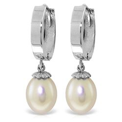 ALARRI 8 Carat 14K Solid White Gold Release The Wish Pearl Earrings