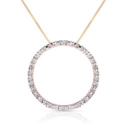 ALARRI 0.1 CTW 14K Solid Gold Eternity Diamond Necklace