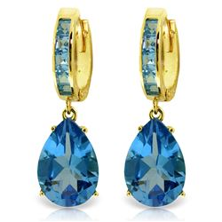 ALARRI 13.2 Carat 14K Solid Gold Dramatique Blue Topaz Earrings