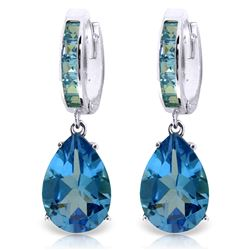 ALARRI 13.2 CTW 14K Solid White Gold Caress Love Blue Topaz Earrings