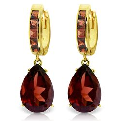 ALARRI 13.2 CTW 14K Solid Gold Dramatique Garnet Earrings