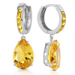ALARRI 13.2 Carat 14K Solid White Gold Loving Touch Citrine Earrings