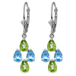 ALARRI 4.5 Carat 14K Solid White Gold Spring Starts Here Topaz Peridot Earrings