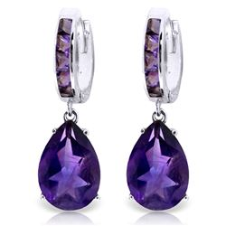 ALARRI 13.2 Carat 14K Solid White Gold India Amethyst Earrings