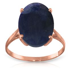 ALARRI 8.5 CTW 14K Solid Rose Gold Ring Natural Oval Sapphire