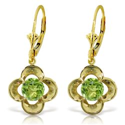 ALARRI 1.1 Carat 14K Solid Gold Adriatic Sea Peridot Earrings