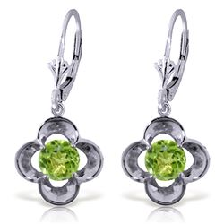 ALARRI 1.1 Carat 14K Solid White Gold Foundations Peridot Earrings