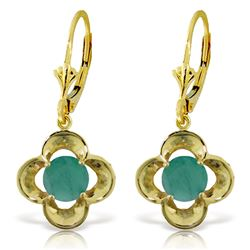 ALARRI 1.1 Carat 14K Solid Gold Selene Emerald Earrings