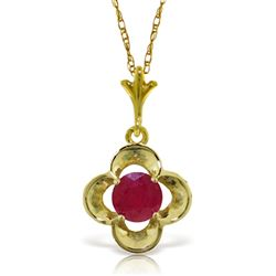 ALARRI 0.55 Carat 14K Solid Gold Hearts's Journey Ruby Necklace