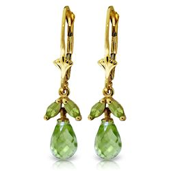 ALARRI 3.4 CTW 14K Solid Gold True To Life Peridot Earrings