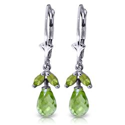 ALARRI 3.4 CTW 14K Solid White Gold Understanding Is Power Peridot Earrings