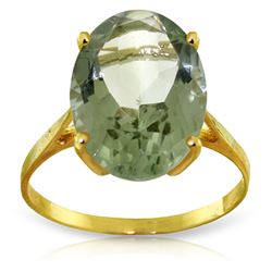 ALARRI 7.55 CTW 14K Solid Gold Ring Natural Green Amethyst