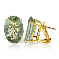 ALARRI 15.1 Carat 14K Solid Gold Intensity Green Amethyst Earrings