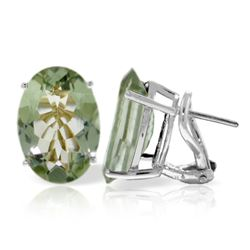 ALARRI 15.1 Carat 14K Solid White Gold You Were Right Green Amethyst Earrings