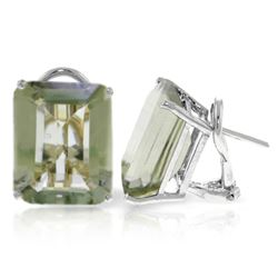 ALARRI 13 CTW 14K Solid White Gold Told You So Green Amethyst Earrings