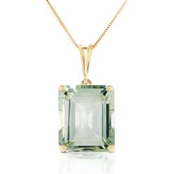 ALARRI 6.5 CTW 14K Solid Gold Necklace Octagon Green Amethyst