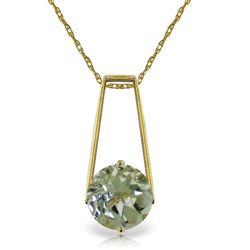 ALARRI 1.45 CTW 14K Solid Gold Boundless Moment Green Amethyst Necklace