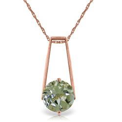 ALARRI 1.45 Carat 14K Solid Rose Gold Lullaby Green Amethyst Necklace