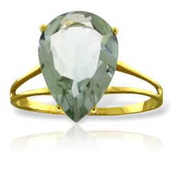 ALARRI 5 Carat 14K Solid Gold Hot Response Green Amethyst Ring