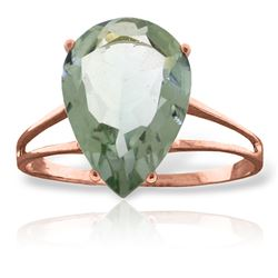 ALARRI 5 CTW 14K Solid Rose Gold Sensuality Green Amethyst Ring