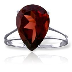 ALARRI 5 CTW 14K Solid White Gold This Tender Night Garnet Ring