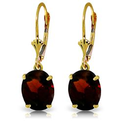 ALARRI 6.25 CTW 14K Solid Gold Encourage Garnet Earrings